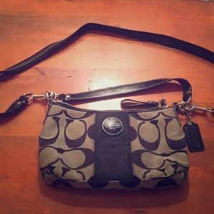 Coach cross body bag with two straps